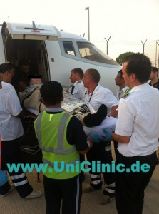 Медицинская авиаперевозока в Германию
